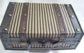 Antique effect wooden case